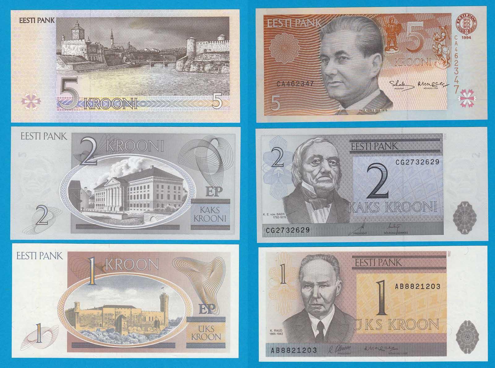 Estland Banknoten Brief Estland Briefmarken